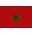 Flaf of morocco vector