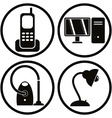 Household appliances icons set 1 vector