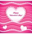 Pink wavy valentines day background vector