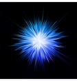 Abstract blue star vector