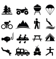 Fitness and leisure icons vector