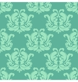 Light green seamless damask pattern vector