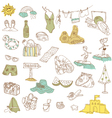 Summer holiday doodle collection vector