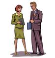 Couple businessmen vector