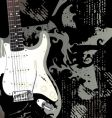 Rock and roll guitar vector