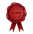 Product of poland wax seal vector