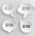 Buy now white flat buttons on gray background vector