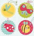 Design elements for baby scrapbook vector