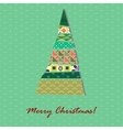 Card with pattern xmas tree vector
