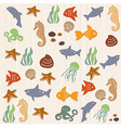 Seamless ocean life pattern 2 vector