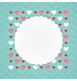 Greeting card with hearts on a blue vector