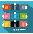 Paper infographics template - layout on blue vector