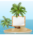 Island with signboard vector