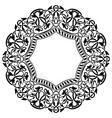 Black circle frame with ornamental border vector