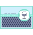 Card with a glass of wine vector