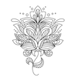 Intricate calligraphic floral design vector