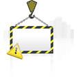 Crane hook blank poster vector