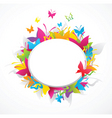 Butterflies border frame vector