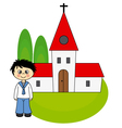 Boy first communion vector
