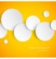Abstract orange background with white paper vector