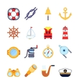Set of colorful yachting icons sailing symbols vector