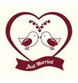 Wedding design over white background vector