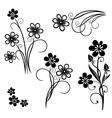 Flowers meadow set vector