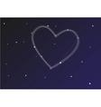 Constellation heart vector