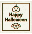 Happy halloween greeting card with effect overlay vector