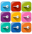 Buttons with keys vector