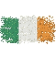 Irish grunge tile flag vector