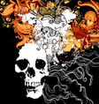 Skull with abstract design elements vector