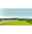 Rural landscape vector