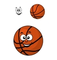 Isolated basketball ball with a happy face vector
