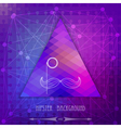 Vintage triangular hipster background vector
