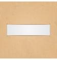 White paper label vector