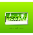 Glossy electronic clock web box vector