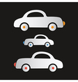 Paper cars on dark background vector