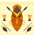 African ethnic background with of mask vector