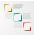 3d banners and squares design vector