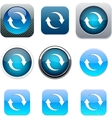 Refresh blue app icons vector