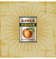 Retro apple sauce can vector