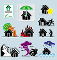 Home insurance icons vs vector