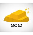 Gold bars vector