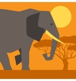 African ethnic background with of elephant vector