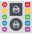 Print sign icon printing symbol set colourful vector