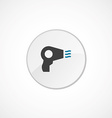 Hairdryer icon 2 colored vector