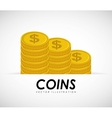 Coins gold vector