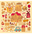 Icons of paris vector