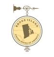 Vintage label rhode island vector